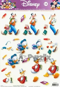 Disney 3D klippark - Mickey Mouse and Friends School time - Disney 3D klippark - Mickey Mouse and Friends School time