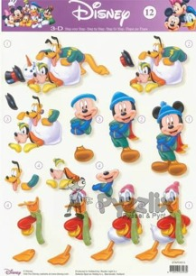 Disney 3D klippark - Mickey Mouse and Friends Winter fun - Disney 3D klippark - Mickey Mouse and Friends Winter fun