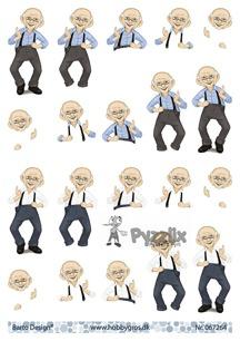 Barto Design 3D klippark - Glad herre - Barto Design 3D klippark - Glad herre