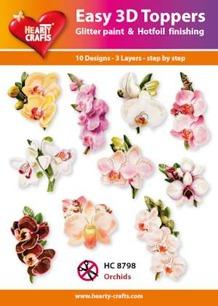 Easy 3D utstansat - Orchids - Easy 3D utstansat - Orchids