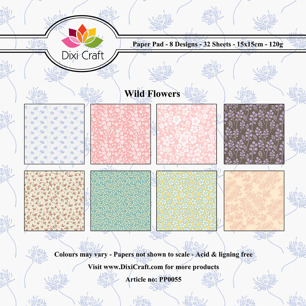 Dixi Craft Pappersblock - Wild Flowers 120 gr - Pappersblock - Dixi Craft, Wild Flowers 120 gr