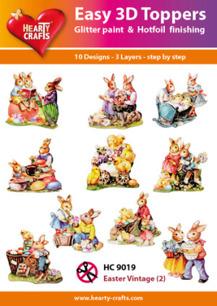 Easy 3D utstansat - Easter vintage - Easy 3D utstansat - Easter vintage