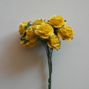 Blommor Gula rosor, 15 mm - Blommor Gula rosor, 15 mm