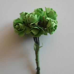 Blommor rosor Limegröna, 20 mm - Blommor rosor Limegröna, 20 mm