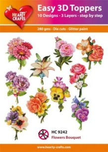 Easy 3D utstansat – Flowers Bouquet - Easy 3D utstansat – Flowers Bouquet
