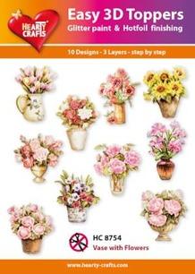 Easy 3D utstansat - Vase with Flowers - Easy 3D utstansat - Vase with Flowers
