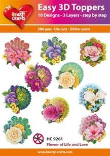 Easy 3D utstansat – Flower of Life and Love - Easy 3D utstansat – Flower of Life and Love