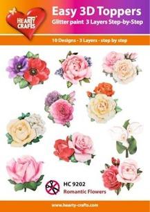 Easy 3D utstansat - Romantic Flowers - Easy 3D utstansat - Romantic Flowers