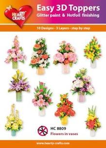 Easy 3D utstansat - Flowers in vases - Easy 3D utstansat - Flowers in vases
