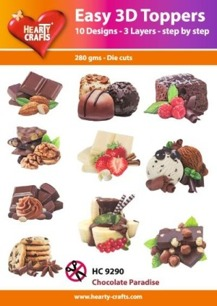 Easy 3D utstansat - Chocolate Paradise - Easy 3D utstansat - Chocolate Paradise