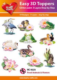 Easy 3D utstansat – Pond Animals & Flowers - Easy 3D utstansat – Pond Animals & Flowers