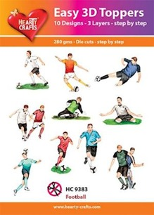 Easy 3D utstansat - Football - Easy 3D Toppers - Football