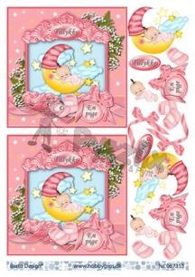 Barto Design 3D klippark - Babymotiv, flicka - Barto Design 3D klippark - Babymotiv, flicka