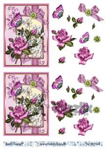 Barto Design 3D Klippark - Blommor, fjäril - Barto Design 3D Klippark - Blommor, fjäril