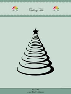 Dixi Craft Dies - Spiral Christmas Tree - Dixi Craft Dies - Spiral Christmas Tree