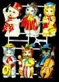 Bokmärke - 6 st spelande katter