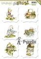 Amy design Toppers utstansade - Vårmotiv, 6 st