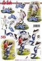 Le Suh 3D Klippark - Damfotboll