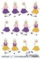 Barto Design 3D klippark - Äldre dam dansar