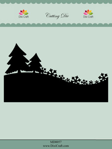 Dixi Craft Dies - Tree and Snowflake Line - Dixi Craft Dies - Tree and Snowflake Line