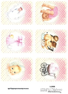 Dan design Klippark - Babymotiv, flicka - Dan design Klippark - Babymotiv, flicka