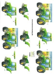 Dan design 3D Klippark - Traktor - Dan design 3D Klippark - Traktor