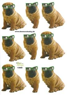 Dan design 3D Klippark - Hund m solglasögon - Dan design 3D Klippark - Hund m solglasögon
