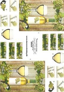 Dan design 3D Klippark - Vitt vin - Dan design 3D Klippark - Vitt vin