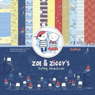 ScrapBerrys Pappersblock - Zoe & Ziggys Sailing Adventures Set 6x6 - 24sheets - ScrapBerrys Pappersblock - Zoe & Ziggys Sailing Adventures Set 6x6 - 24sheets