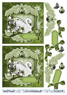 Barto Design 3D Klippark - Svan, grön - Barto Design 3D Klippark - Svan, grön