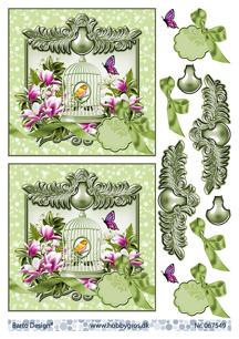 Barto Design 3D Klippark - Fågel i bur, grön - Barto Design 3D Klippark - Fågel i bur, grön