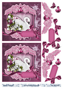 Barto Design 3D Klippark - Svan, rosa - Barto Design 3D Klippark - Svan, rosa