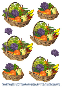 Barto Design 3D Klippark - Fruktkorg - Barto Design 3D Klippark - Fruktkorg