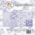 Dixi Craft Pappersblock - Retro Flowers/Lavender