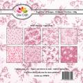 Dixi Craft Pappersblock - Retro Flowers/Light Pink