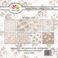 Dixi Craft Pappersblock - Retro Flowers/Brown