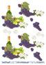 Barto Design 3D Klippark - Vinflaska & druvklase - Barto Design 3D Klippark - Vinflaska & druvklase