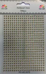 Dixi Craft - Rhinestone, 3 mm - Guld - Dixi Craft - Rhinestone, 3 mm - Guld