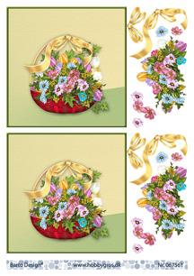 Barto Design 3D Klippark - Blommor i korg - Barto Design 3D Klippark - Blommor i korg