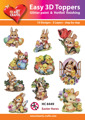 Easy 3D utstansat - Easter Hares