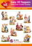 Easy 3D utstansat - Easter vintage (1) - Easy 3D utstansat - Easter vintage (1)