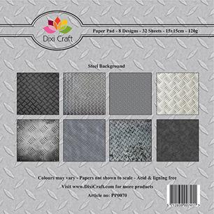 Dixi Craft Pappersblock - Steel Background - Dixi Craft Pappersblock - Steel Background