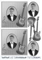 Barto Design 3D Klippark - Kille m gitarr, svart/vitt