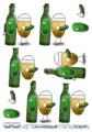 Barto Design 3D Klippark - Flaska m ölglas