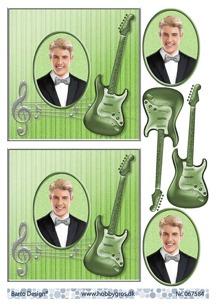 Barto Design 3D Klippark - Kille m gitarr - Barto Design 3D Klippark - Kille m gitarr