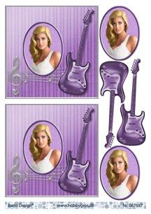 Barto Design 3D Klippark - Tjej m gitarr - Barto Design 3D Klippark - Tjej m gitarr