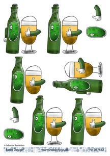 Barto Design 3D Klippark - Flaska m ölglas - Barto Design 3D Klippark - Flaska m ölglas