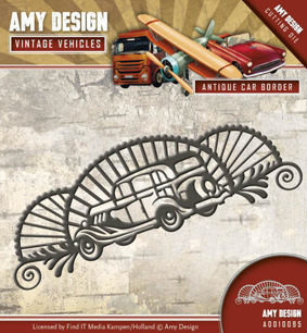 Amy Design Dies - Vintage Vehicles - Antique Car Border - Amy Design Dies - Vintage Vehicles - Antique Car Border