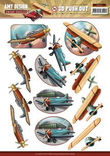 Amy design 3D Utstansat - Vintage Vehicles - Flygplan - Amy design 3D Utstansat - Vintage Vehicles - Flygplan