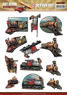 Amy design 3D Utstansat - Vintage Vehicles - Lok - Amy design 3D Utstansat - Vintage Vehicles - Lok